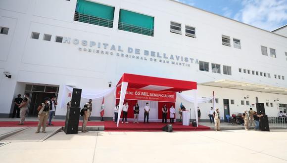 La titular de la PCM presidió la inauguración del Hospital de Bellavista en San Martín. Foto: PCM