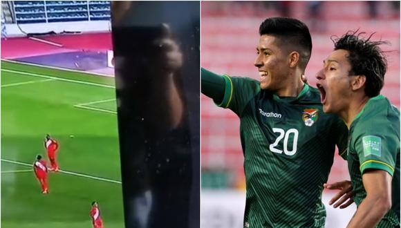 Hincha peruano subió el video a las redes sociales.