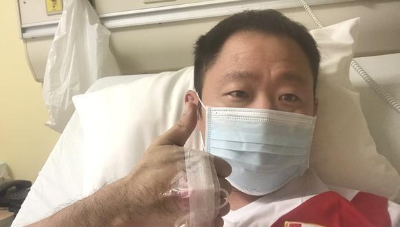 El hermano de la candidata a la presidencia, Keiko Fujimori se viene recuperando tras contagiarse de coronavirus. (Foto: Twitter Kenji)