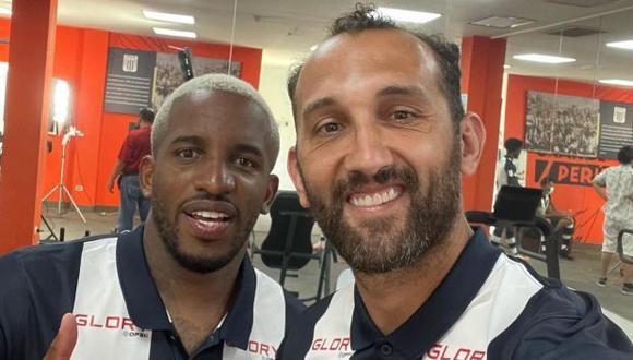 Jefferson Farfán y Hernán Barcos, dos de los refuerzos de Alianza Lima para la temporada 2021. (Foto: Instagram / Barcos)