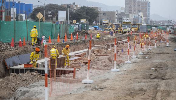 Los trabajos se realizan en ambos sentidos de la avenida Universitaria, en el tramo comprendido entre las avenidas 22 de Agosto y Los Incas, en Comas. . (Foto: Municipalidad de Lima)