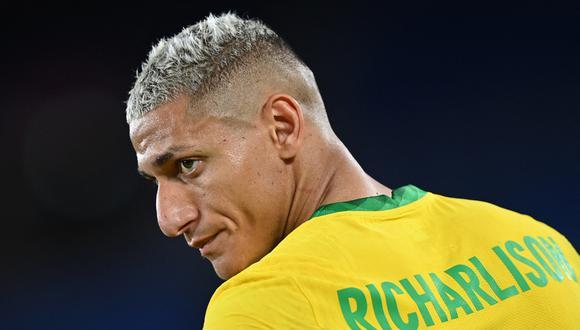 Richarlison continuó con la guerra virtual frente a Rodrigo De Paul. (Foto: AFP)
