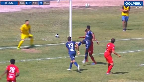 Aurich - Cienciano EN VIVO   Jossimar Serrato marca golazo de cabeza, coloca el empate y no lo celebra [VIDEO]