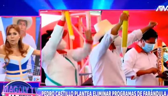 Magaly Medina se pronunció tras la propuesta de Pedro Castillo de eliminar programas 'basura'. (Foto: Captura de video)