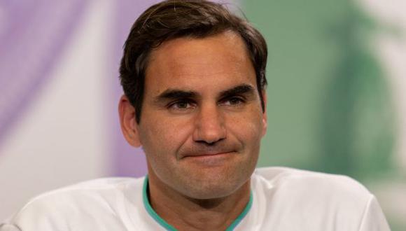 Roger Federer confesó que no irá a Tokio por unas molestias en la rodilla. (Foto: AFP)