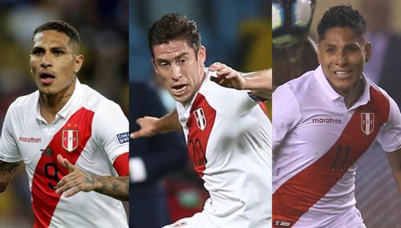 Guerrero, Ormeño y Ruidíaz en la selección peruana.