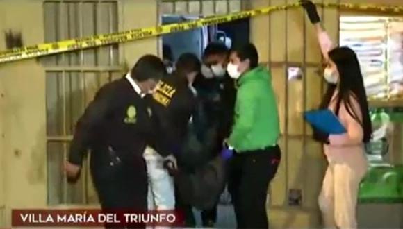 La Depincri de Villa María del Triunfo investiga el doble crimen. (Captura: América Noticias)