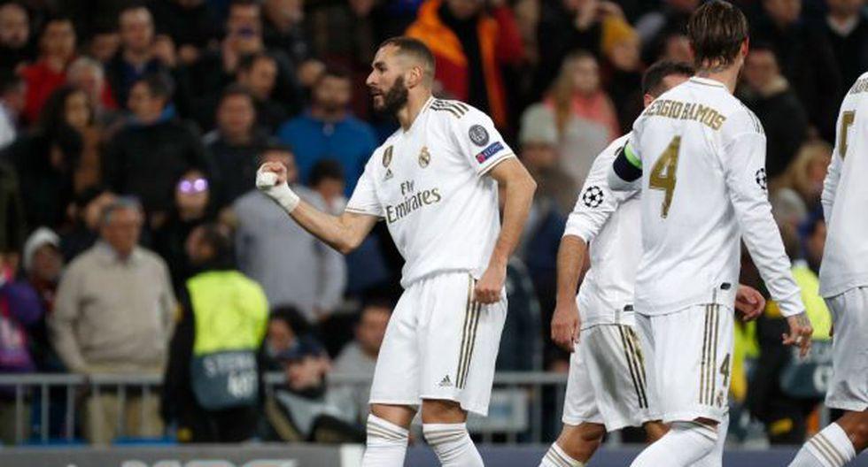 Karim Benzema anotó su primer gol en la presente temporada de la Champions League. (Foto: AFP)