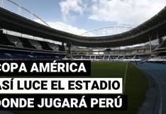 Selección peruana: así luce la cancha del Nilton Santos a un día del debut en Copa América