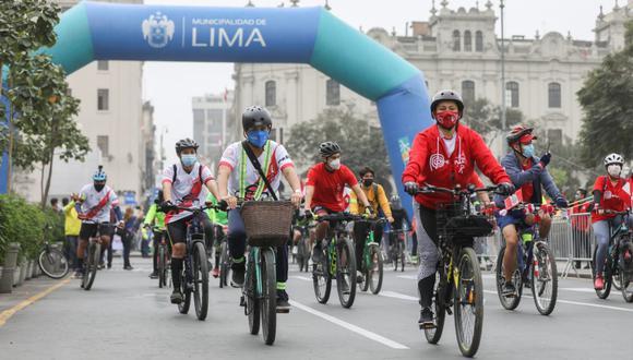 Esta es la semana de la movilidad sostenible y esta será la primera bicicleteada que se realiza por el Día Mundial sin Auto. (Foto: MuniLima)
