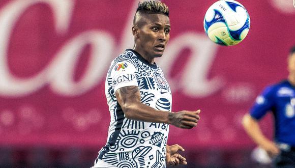 Pedro Aquino  marcó su primer gol oficial como 'Águila' ante Pachuca. (Foto: América)