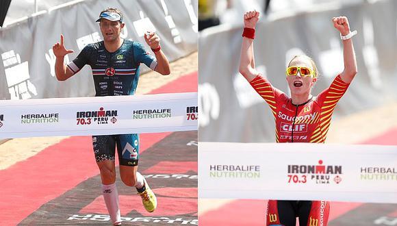 Cyril Viennot y Sarah Piampiano se llevaron el Ironman 70.3 Perú