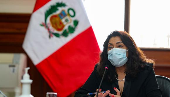 """Jefa del Gabinte indica que """"debemos sentirnos tranquilos"""" porque vacunas contra el COVID-19 adquiridas por el gobierno tienen eficacia. (Foto: Presidencia del Perú)"""