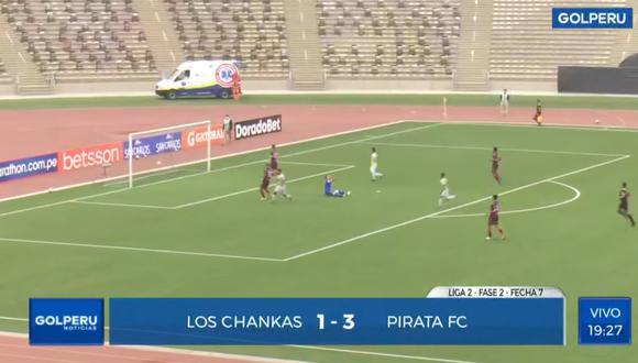 El usuario de Tik Tok indicó que el partido entre Los Chankas y Pirata FC pudo ser amañado.