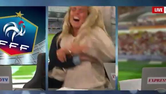 Twitter: periodista sueca festeja de manera coqueta triunfo de su selección [VIDEO]
