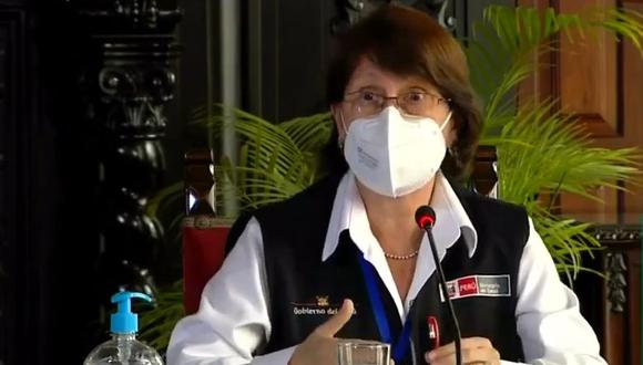 Pilar Mazzetti renuncia al Ministerio de Salud.