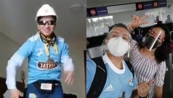"""El famoso """"Ingeniero bailarín"""" volvió a bailar el """"No sé"""" pero esta vez lo uso con la camiseta de Sporting Cristal, club del que es hincha."""