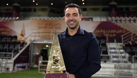 Xavi Hernández dejó el FC Barcelona en la temporada 2014/15. (Foto: @AlsaddSC)