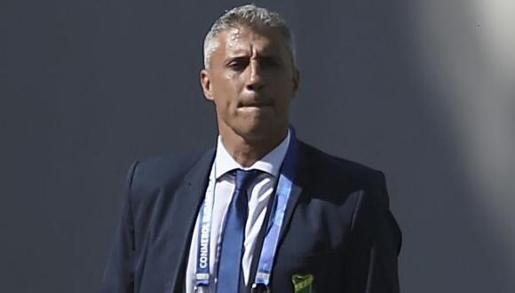 Hernán Crespo guió a Defensa y Justicia al título de la Copa Sudamericana. (Foto: AFP)
