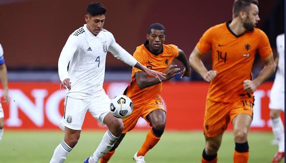 Con un gol de Raúl Jiménez, México dio la sorpresa en el Ámsterdam Arena y derrotó a Holanda.   FOTO: AFP