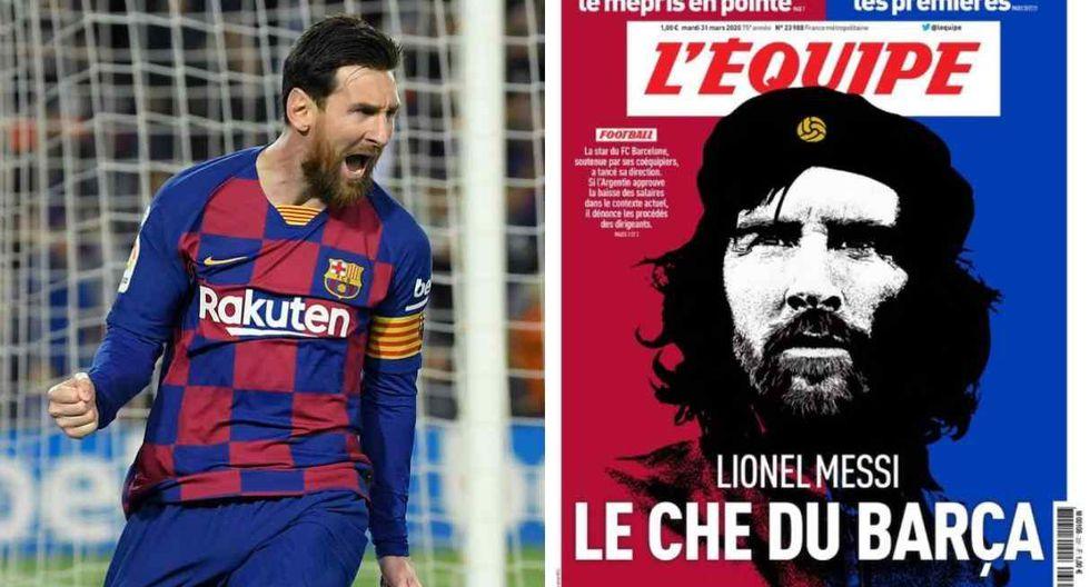 Lionel Messi, 'el Che Guevera del Barcelona', señala el periódico francés. (Foto: AFP / L'Equipe)