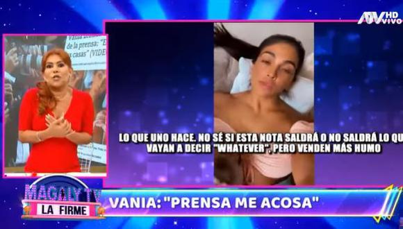 Magaly Medina a Vania Bludau tras afirmar que la prensa la acosa. (Foto: captura de video)