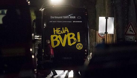 Champions League: Primer detenido tras ataques a bus del Borussia Dortmund