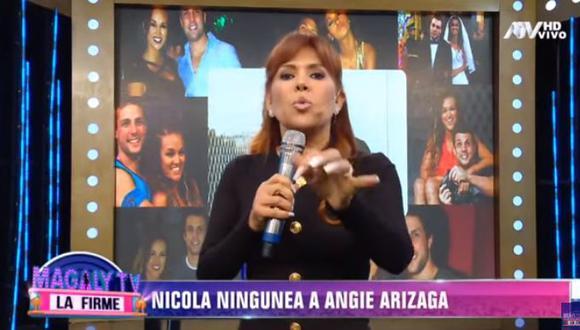 Magaly Medina indignada con Nicola Porcella por negar que estuvo enamorado Angie Arizaga (Foto: captura)