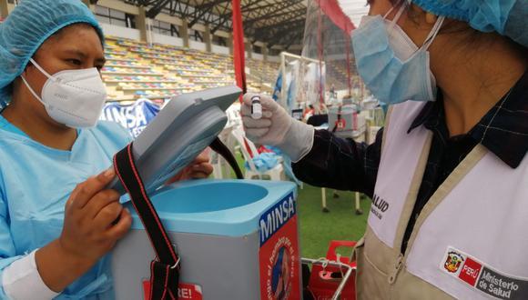 Los inspectores de Susalud vienen recorriendo centros de vacunación de manera inopinada. (Foto: Susalud)