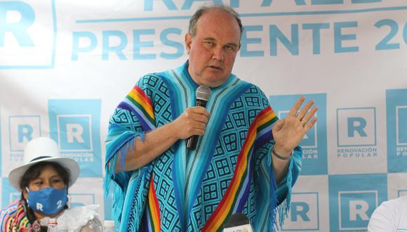 Rafael López Aliaga anuncia que postulará a la Alcaldía de Lima. (Foto: Juan Sequeiros)