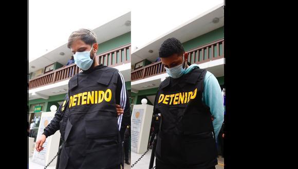como Rainel Jesús Leal Partidas 'Barba' y Jeisell Jesús Cambero Medina 'Chamito', fueron detenidos en San Isidro. (Foto: Hugo Curotto)