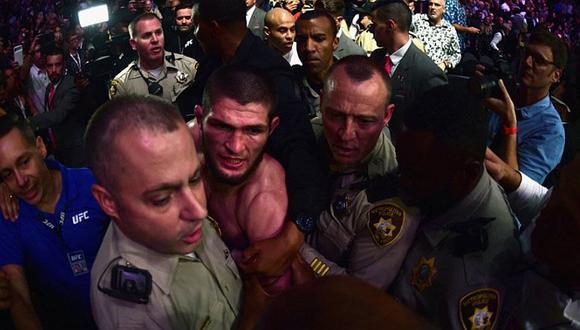 Emotivas disculpas de Khabib tras brutal agresión al equipo de McGregor