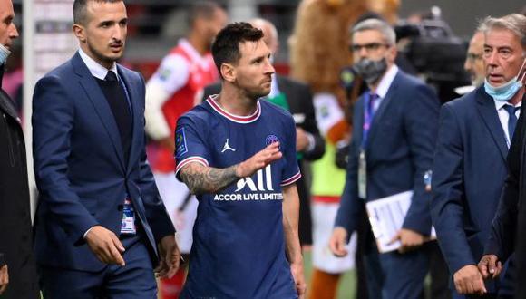 Lionel Messi se estrenó ante el Reims en su primer partido con la camiseta del PSG. (Foto: AFP)