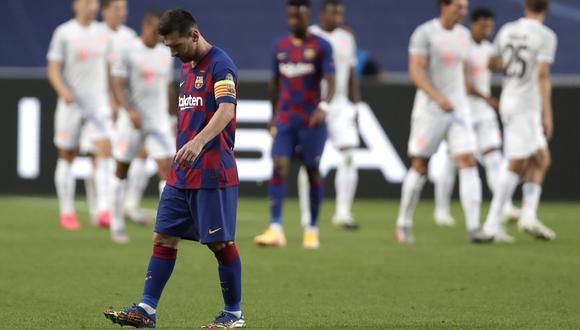 Con Lionel Messi, Barcelona perdió 8-2 ante Bayern Múnich, su peor derrota histórica en la Champions. (Foto: AFP)