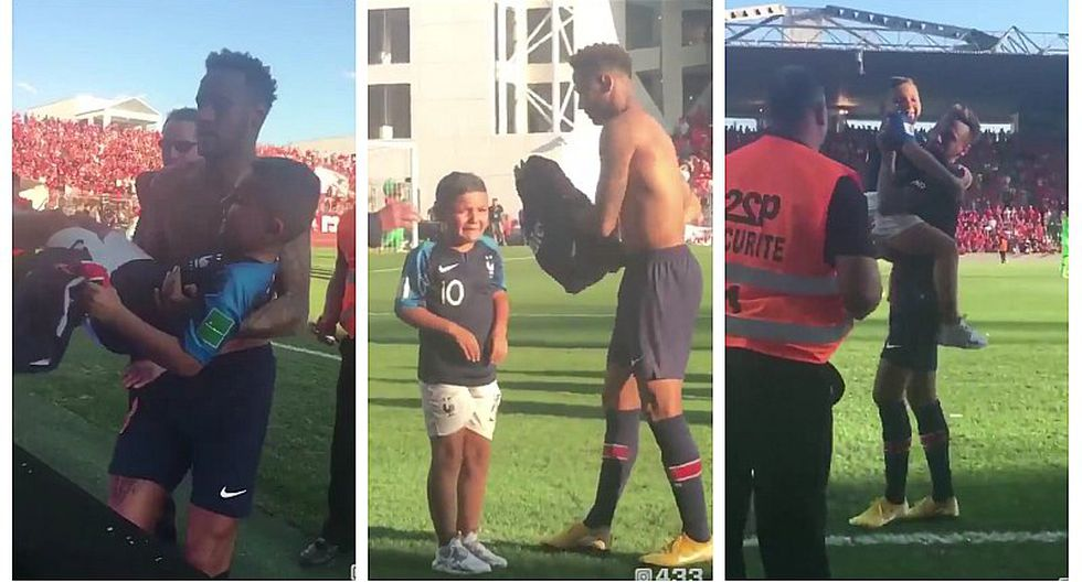Neymar tuvo noble gesto con niño que se metió en pleno partido