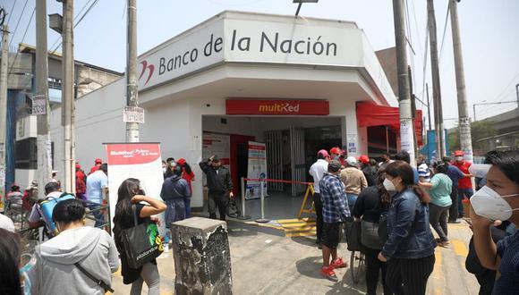 El Banco de la Nación suspendió el cobro del bono a través de la banca celular. (Foto: GEC)