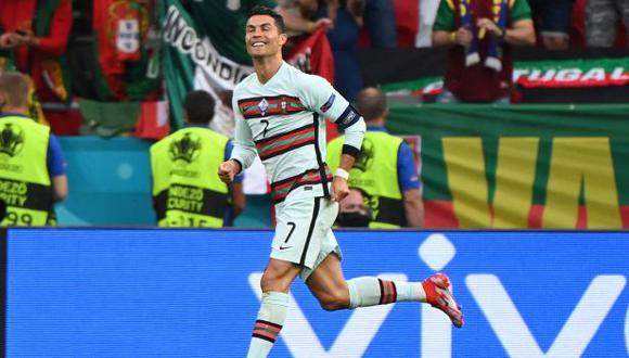 Cristiano Ronaldo marcó un doblete y se convirtió en el goleador histórico de la Eurocopa. (Foto: AFP)