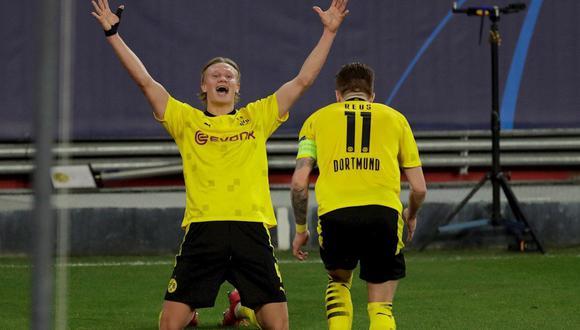 Erling Haaland recordó que tiene contrato con Borussia Dortmund. (Foto: EFE)