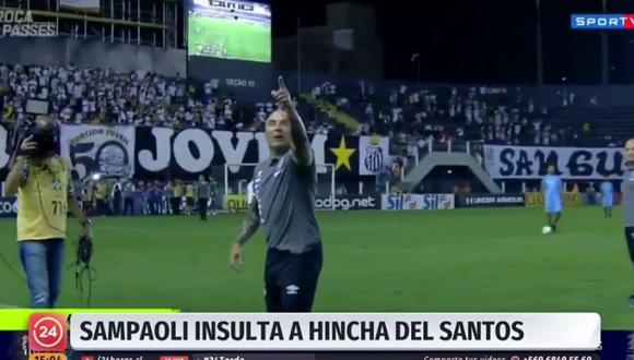 Jorge Sampaoli se enfrenta a la hinchada de Santos y los insulta tras triunfo ante Bahía | VIDEO