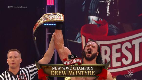 DREW MCINTYRE  NUEVO CAMPEÓN DE WWE
