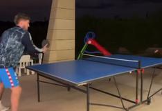 No todo es fútbol: Rodrigo De Paul hizo gala de su cualidades en el tenis de mesa | VIDEO
