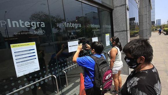Son 3 millones de peruanos que solicitaron el retiro del fondo de AFP
