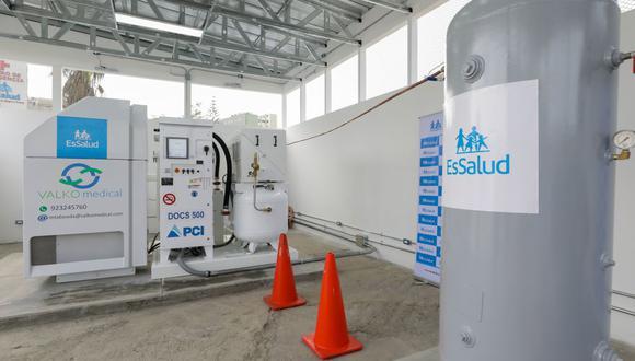La nueva planta de oxígeno se suma al abastecimiento que ya provee el tanque criogénico de 33 mil metros cúbicos y la planta central del hospital Rebagliati. (Foto: EsSalud)