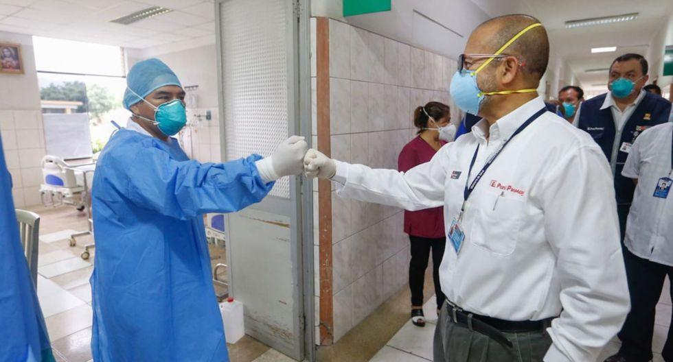 Ministro de Salud, Victor Zamora inspecciona el Hospital Hipólito Unanue, en El Agustino