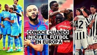 ¿Cuándo inicia el fútbol en las principales ligas de Europa?