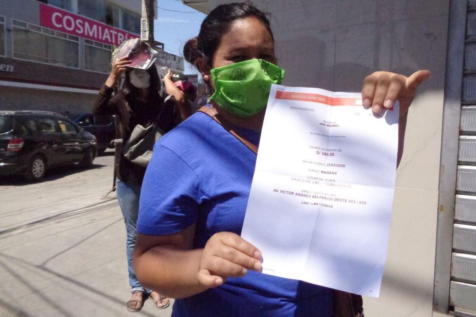 El segundo pago comenzó con los 500.000 beneficiarios que no cobraron la primera parte del bono (Foto: Andina)