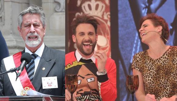 Rodrigo González y Gigi Mitre tenían los micrófonos encendidos en la transmisión del mensaje del presidente Francisco Sagasti.