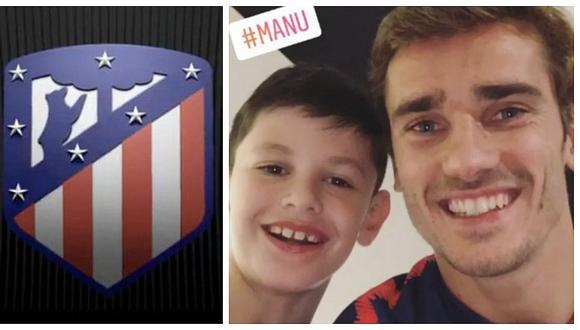 """El niño que conmovió a Griezmann y """"trajo suerte"""" al Atlético de Madrid"""