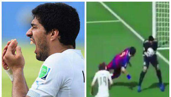 FIFA 16: juego es tan realista que Luis Suárez mete goles mordiendo [VIDEO]