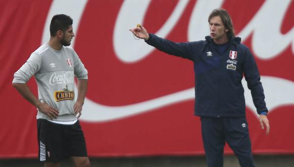 El entrenador de la selección peruana le dio un 'consejo' al defensa de Boca Juniors públicamente. (Foto: GEC)